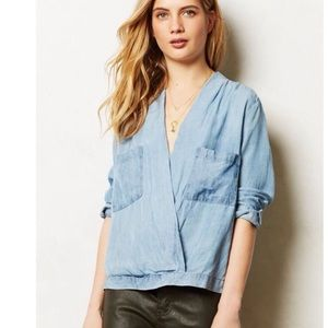 Anthropologie Sam & Lavi Amelia Crossover Blouse S